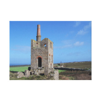 Cornwall Mine Engine House Canvas Prints