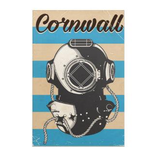 Cornwall Nautical travel poster Acrylic Wall Art