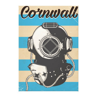 Cornwall Nautical travel poster Canvas Print