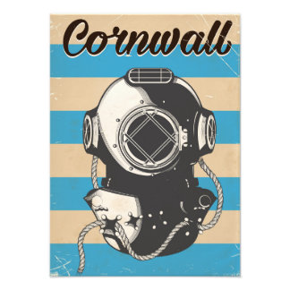 Cornwall Nautical travel poster Photo Print