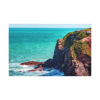 Cornwall The Rugged Coastal Cliffs Canvas Print