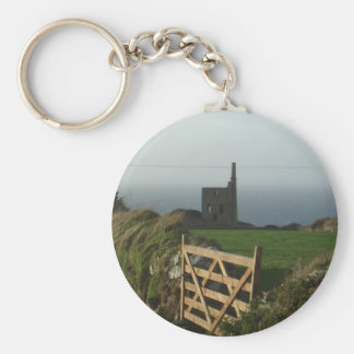 Cornwall tin mine key ring