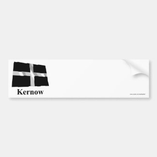 Cornwall Waving Flag with Name in Cornish Bumper Sticker