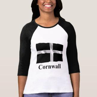 Cornwall Waving Flag with Name T-Shirt