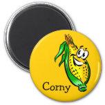 Corny Cornface Magnet