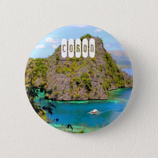 Coron 6 Cm Round Badge