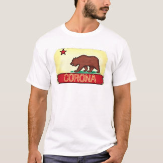 Corona California guys state flag tee