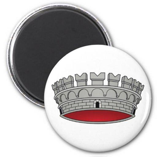 Corona di comune, Italy 6 Cm Round Magnet