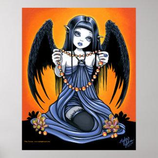 """Corona"" Gothic Crystal Angel Art Poster"