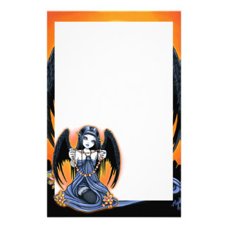 """Corona"" Gothic Crystal Angel Art Stationery"