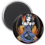 """Corona"" Gothic Raven Crystal Angel Art Magnet"