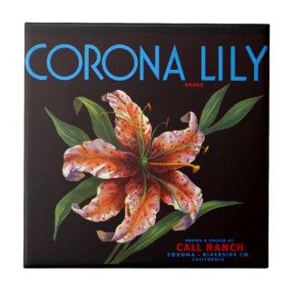 Corona Lily Small Square Tile
