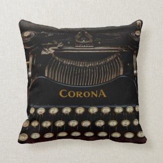"Corona No. 3 Typewriter Pillow 16"" x 16"""