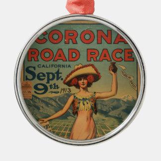 Corona Road Race - 1913 Silver-Colored Round Decoration