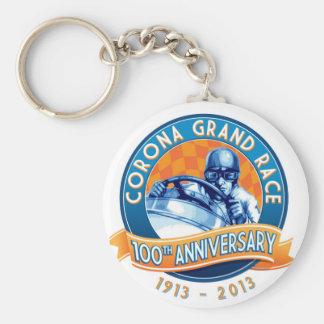 Corona Road Races 100th Anniversary Basic Round Button Key Ring