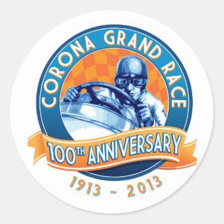 Corona Road Races 100th Anniversary Classic Round Sticker