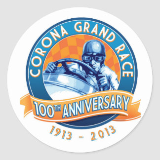 Corona Road Races 100th Anniversary Round Sticker