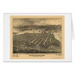 Coronado Beach, CA Panoramic Map - 1880s Card
