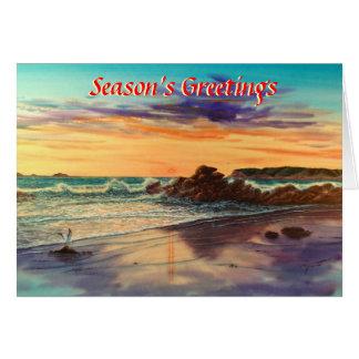 CORONADO BEACH SUNSETJPEC GREETING CARD