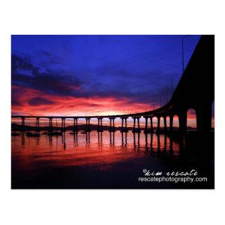 Coronado Bridge Sunrise Postcard