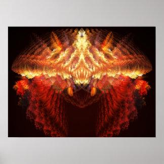 Coronation Abstract Digital Fractal Poster