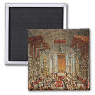 Coronation Banquet of Joseph II in Frankfurt Square Magnet