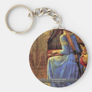 Coronation Detail By Angelico Fra Keychain