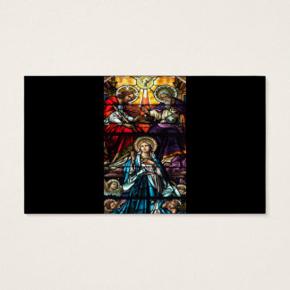 Coronation of Blessed Virgin Mary Stained Glass Business Card
