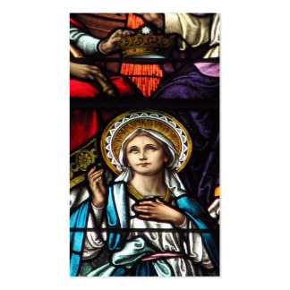 Coronation of Blessed Virgin Mary Stained Glass Pack Of Standard Business Cards