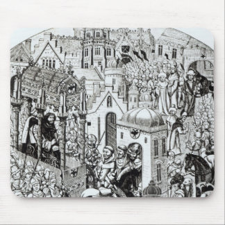 Coronation of Charlemagne in City of Jerusalem Mouse Pad