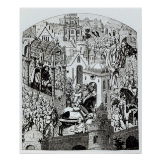 Coronation of Charlemagne in City of Jerusalem Poster