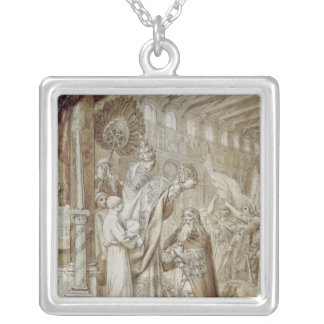Coronation of Charlemagne Silver Plated Necklace