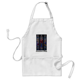 Coronation of Mary Stained Glass Art Adult Apron