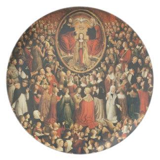Coronation of the Virgin, 1513 (oil on panel) Dinner Plates