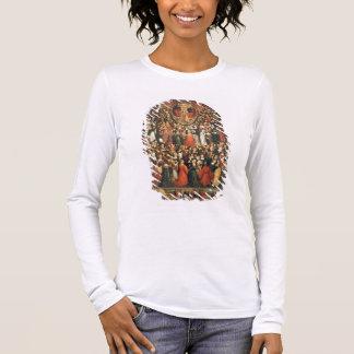 Coronation of the Virgin, 1513 (oil on panel) Long Sleeve T-Shirt
