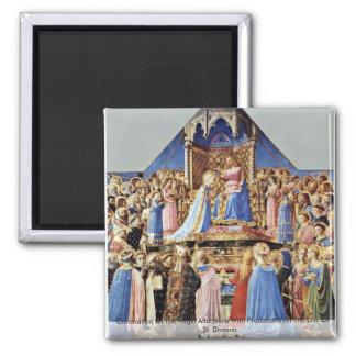 Coronation Of The Virgin Altarpiece Fridge Magnet