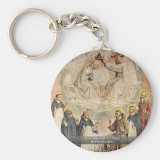 Coronation Of The Virgin By Fra Angelico Key Chains