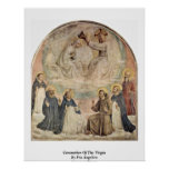 Coronation Of The Virgin By Fra Angelico Poster