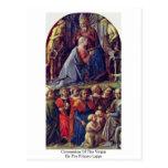 Coronation Of The Virgin By Fra Filippo Lippi Postcard