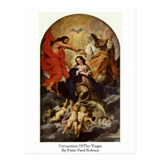 Coronation Of The Virgin By Peter Paul Rubens Postcard