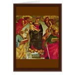 Coronation Of The Virgin By Signorelli Luca (Best Greeting Card