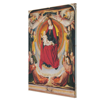 Coronation of the Virgin, centre panel Canvas Print