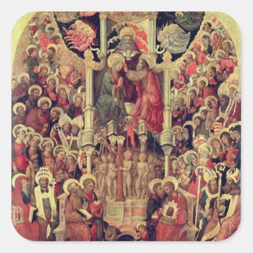 Coronation of the Virgin Square Sticker