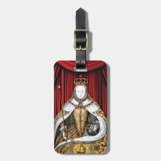 Coronation of Tudor Queen Elizabeth I Luggage Tag