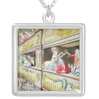 Coronation of Voltaire at the Theatre Francais Silver Plated Necklace