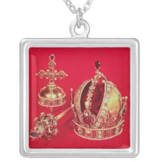 Coronation Regalia of Rudolph II Silver Plated Necklace