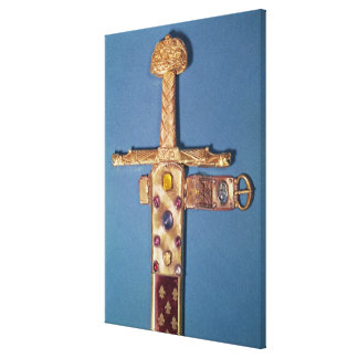 Coronation sword of the Kings of France Canvas Print