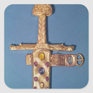 Coronation sword of the Kings of France Square Sticker