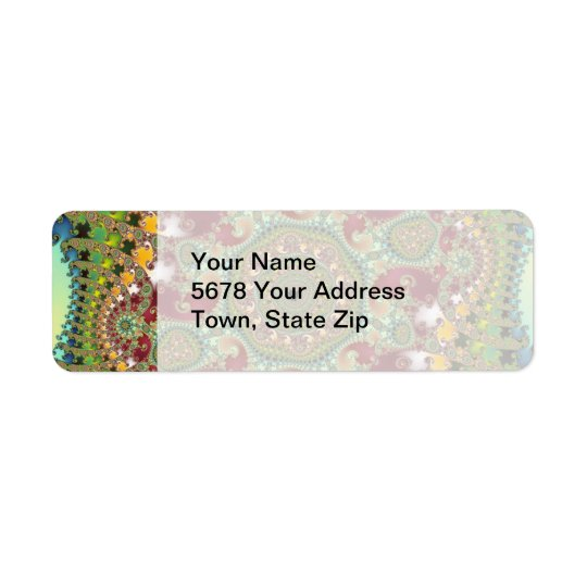 Coronel - Fractal Return Address Label