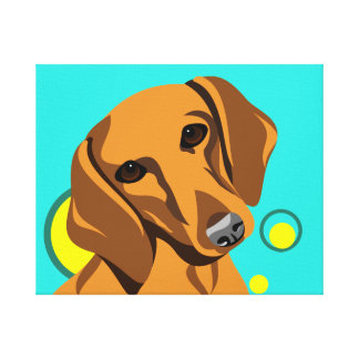 Cororful Dachshund Canvas Art